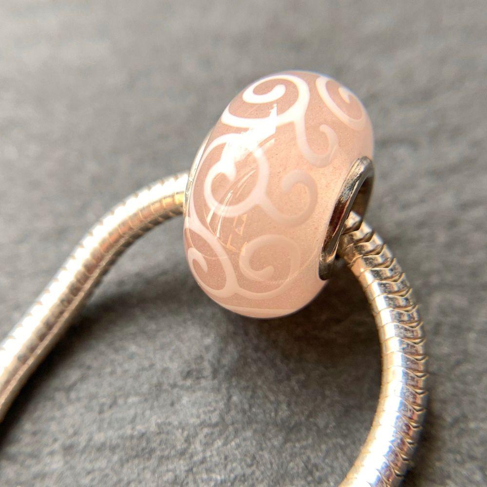 'Vintage Rose' Silver Core Bead