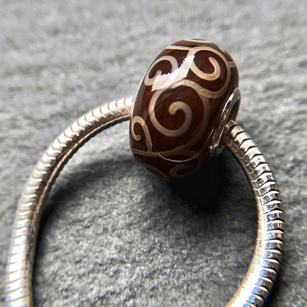 'Chocolate' Silver Core Bead