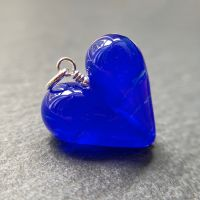 'Unnamed Blue' Heart Pendant