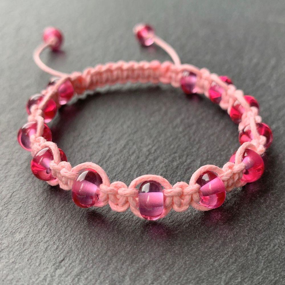'Bubblegum' Macramé Bracelet