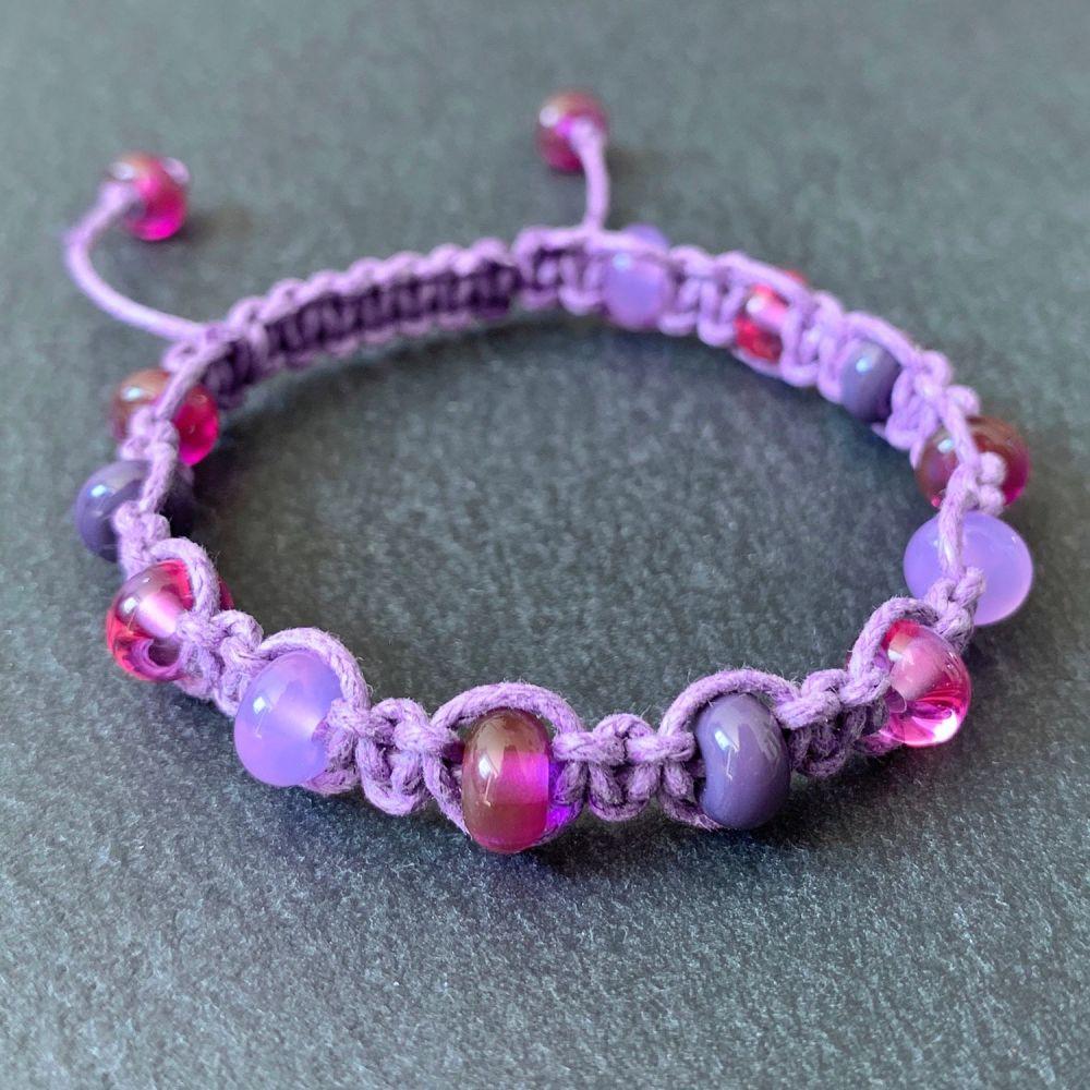'Fuchsia' Macramé Bracelet