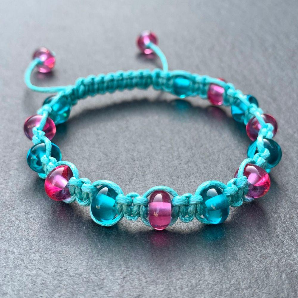 'Carnival' Macramé Bracelet