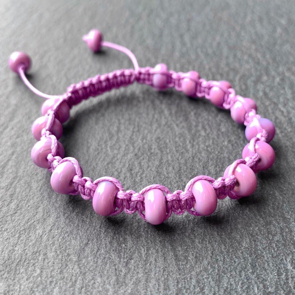 'Orchid' Macramé Bracelet