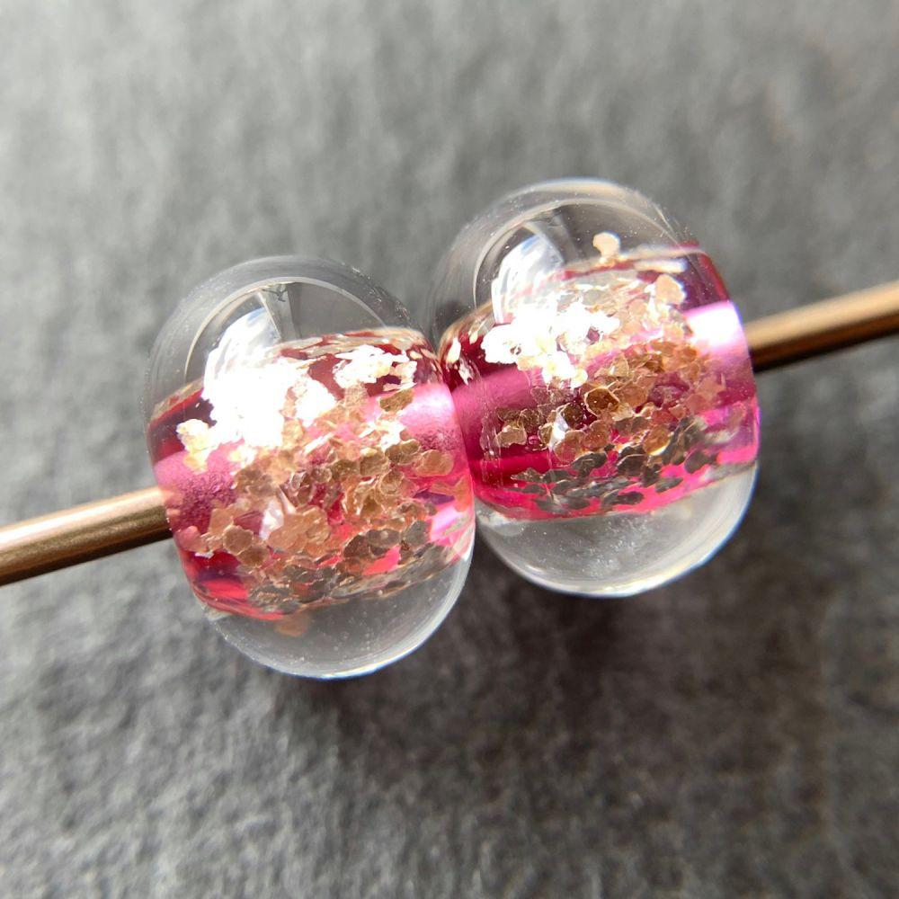 'Pink Glitz' Pair