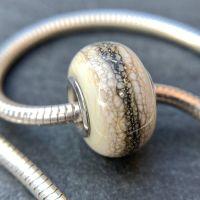 'Strata' Silver Core Charm Bead
