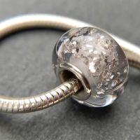 Moonlight 'Glitz' Silver Core Charm Bead