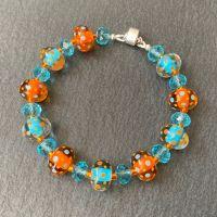 'Turquoise & Tangerine Dream' Bracelet