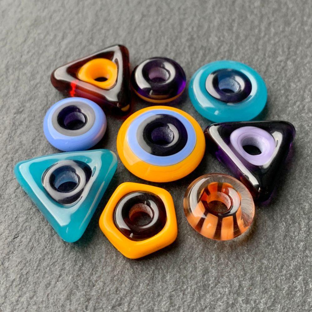 'Geometric' Big Hole (4mm) Bead Assortment