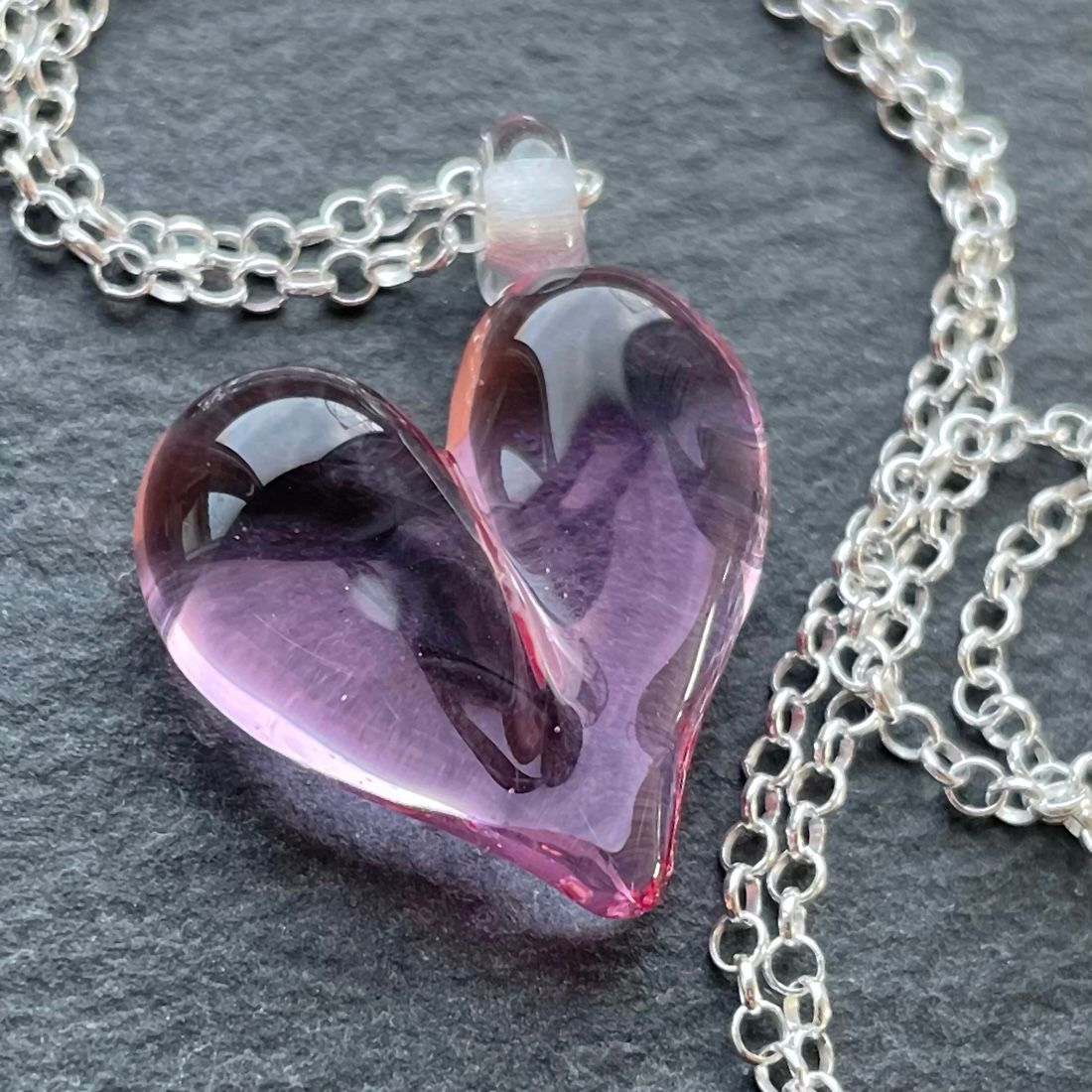 'Rose' Heart Necklace