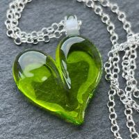 'Lime Jelly' Heart Necklace