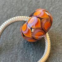 'Orange & Blackcurrant' Big Hole Bead