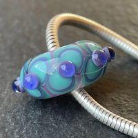 'Teal & Blue Too' Big Hole Bead
