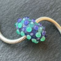 'Teal & Blue' Big Hole Bead