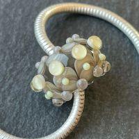 'Grey & Pale Yellow' Big Hole Bead
