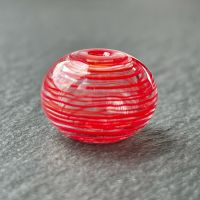 'Rouge' Hollow Bead