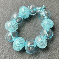 'Aquamarine Dream' Hollow Beads