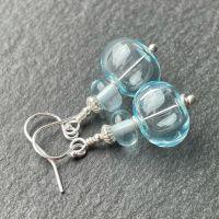 'Pale Aquamarine' Bubble Earrings