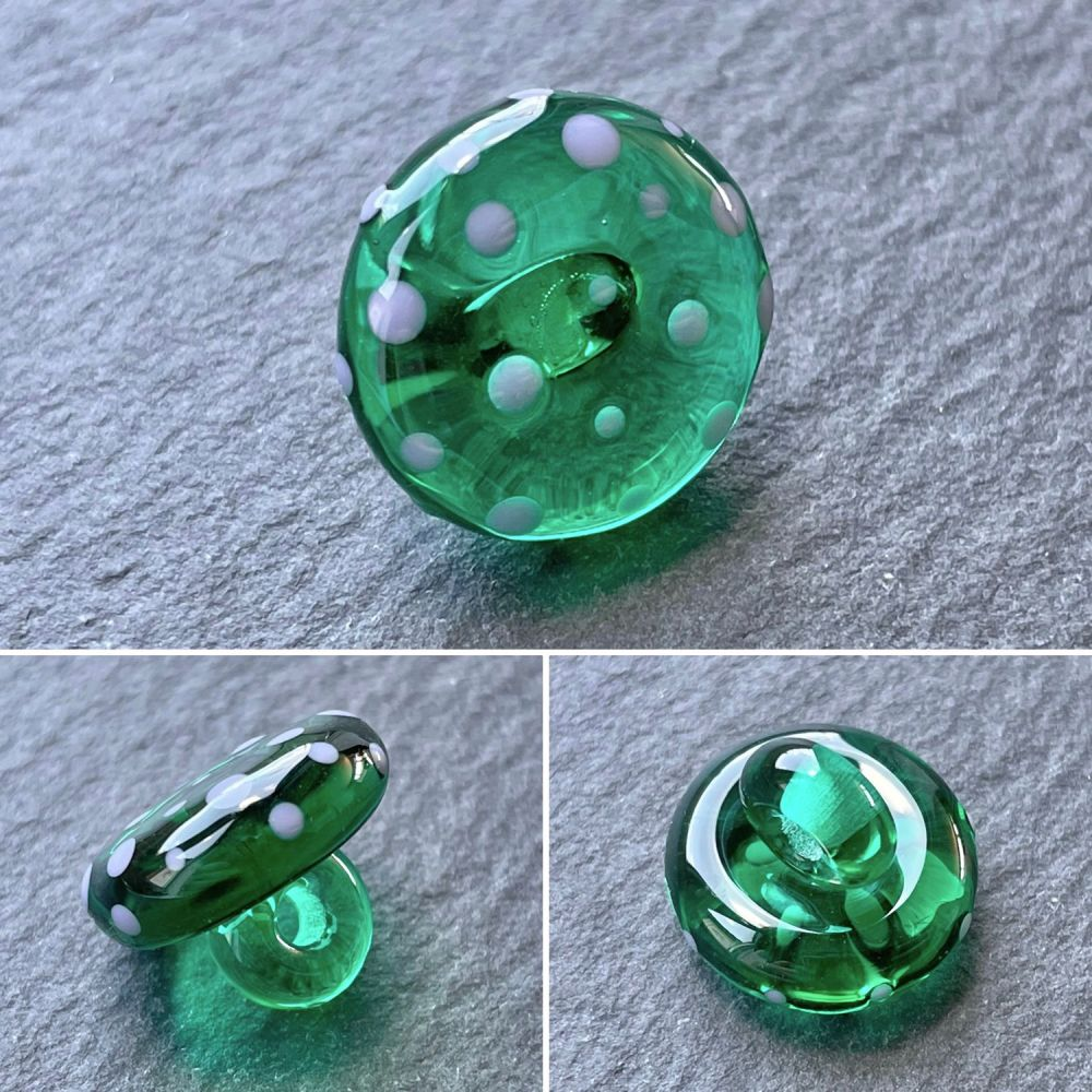 'Teal Green' Spotty Button