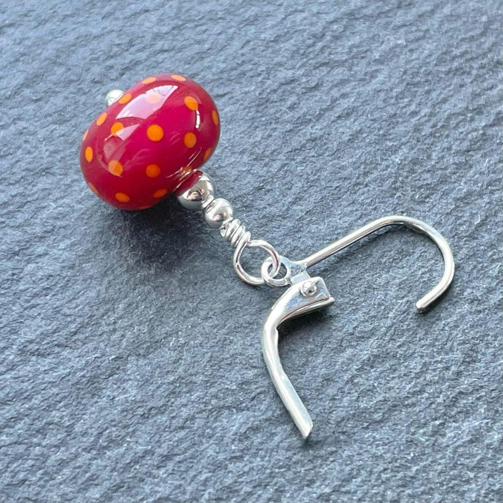 'Cranberry & Orange' Stitch Marker