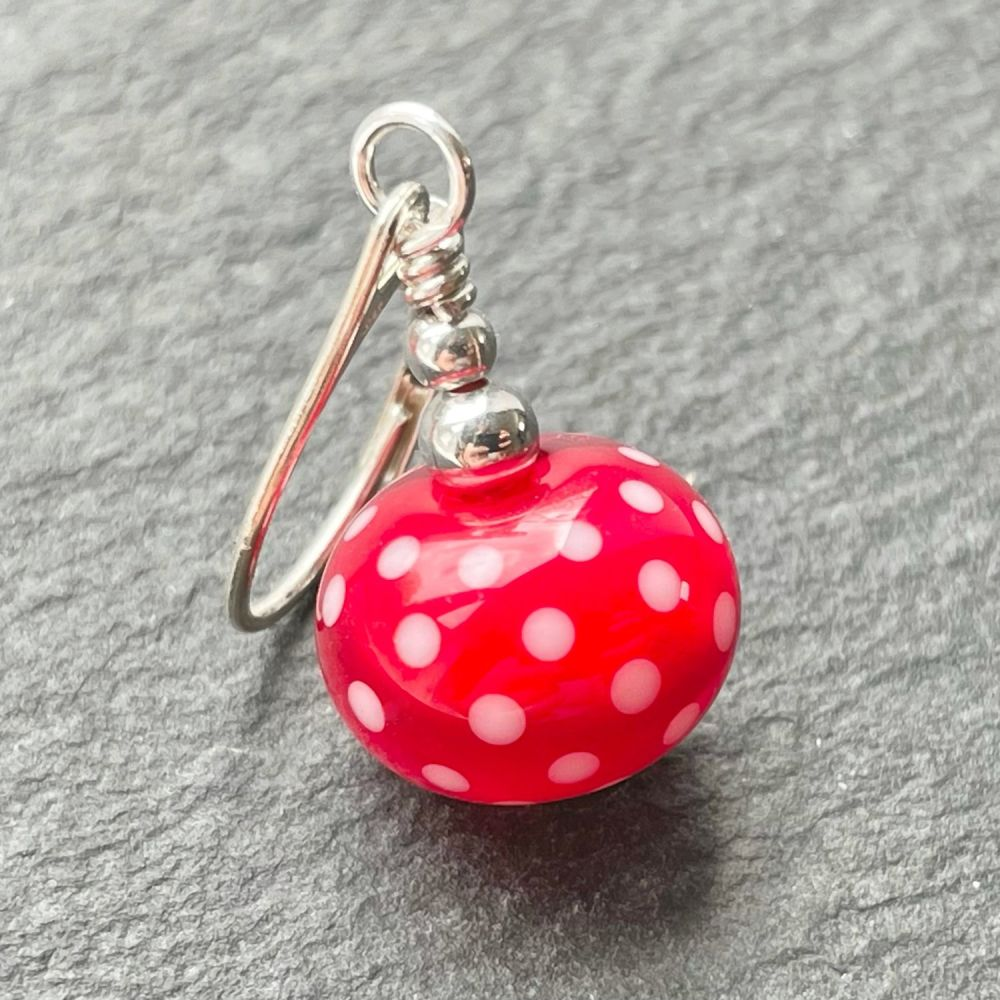 'Strawberry Polka' Stitch Marker