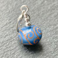 'Sapphire & Jaffa' Stitch Marker