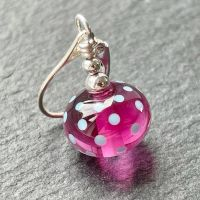 'Hot Pink Polka' Stitch Marker