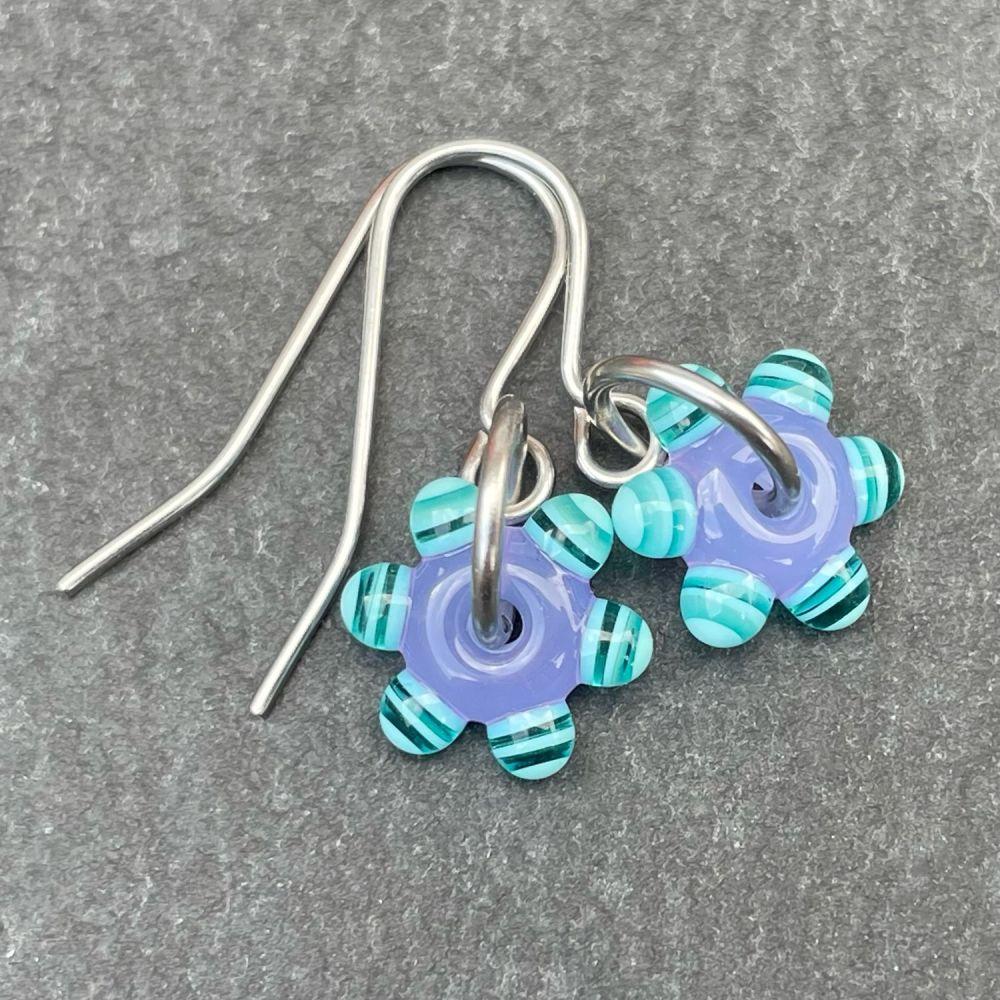 Lavender & Mint 'Sprocket' Earrings