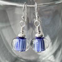 Cobalt 'Streaker' Earrings