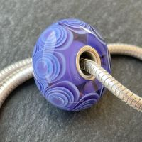 'Periwinkle' Silver Core Charm Bead