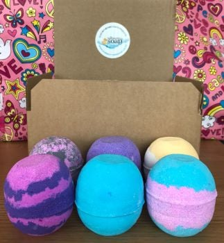 Perfume Inspired Bath Bomb Gift Set - include 6 bath bombs
