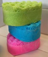 Handmade Mini  Exfoiliating Soap Sponge - available in any fragrance simply select from our drop down menu