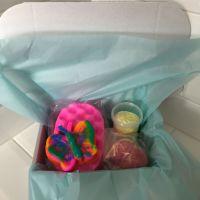 I adore you Gift Set Full of Smokey Vanilla and Watermelon Sugar  bath products