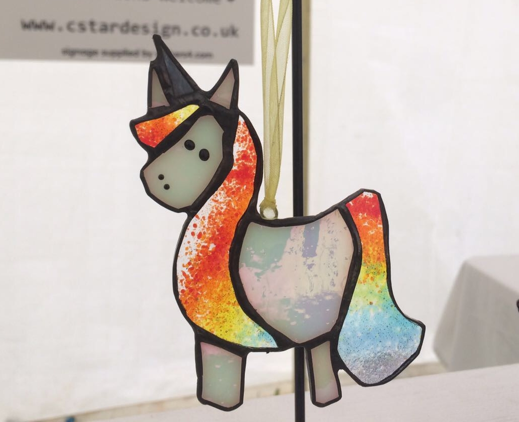 Stained Glass Unicorn