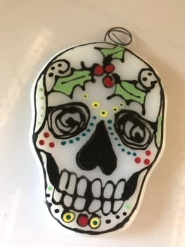 Hand Drawn Christmas Skull