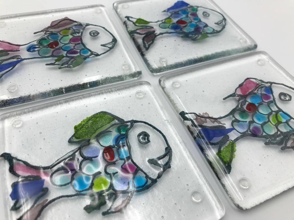 Rainbow Fish Coaster