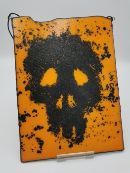 Skull Art Piece Orange or Silver