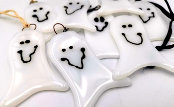 Fused glass Ghost Decoration