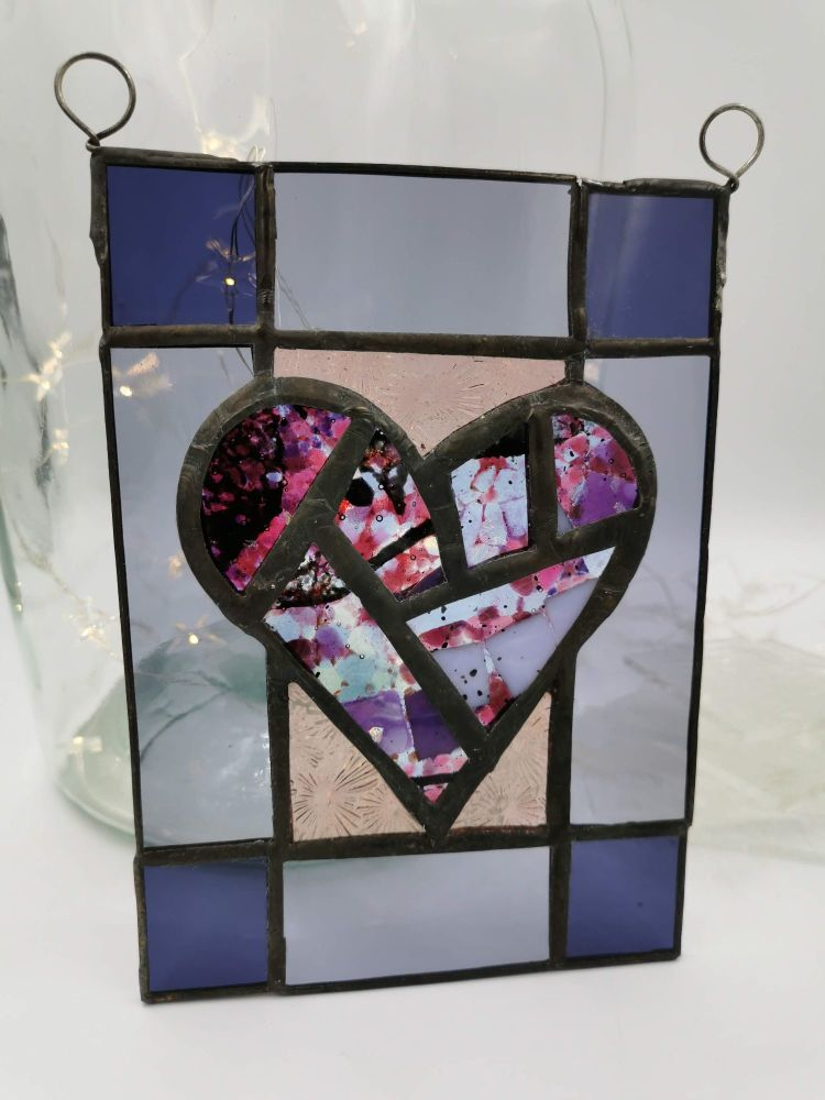 Copper foiled Heart Hanging