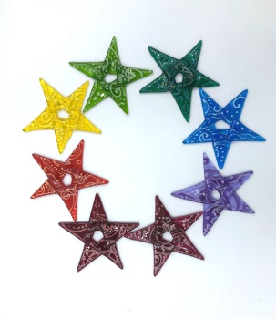 Fused glass wafer Star decoration