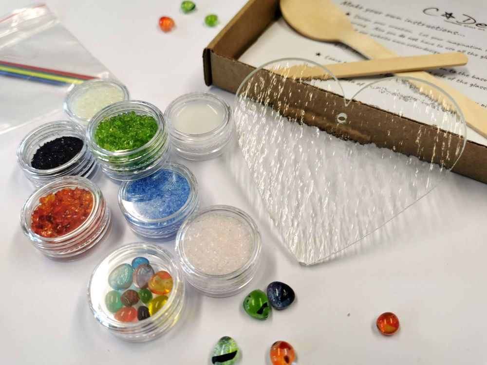 Glass Fusing Kit - Rainbow Heart