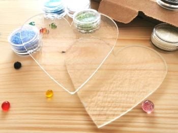 Glass Fusing Kit - Rainbow Hearts
