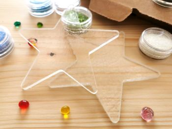 Glass Fusing Kit - Rainbow Stars