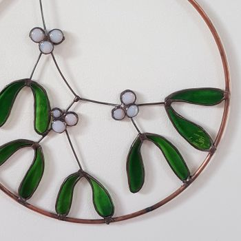 Stained glass mistletoe