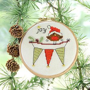 christmas robin bunting tree - joy