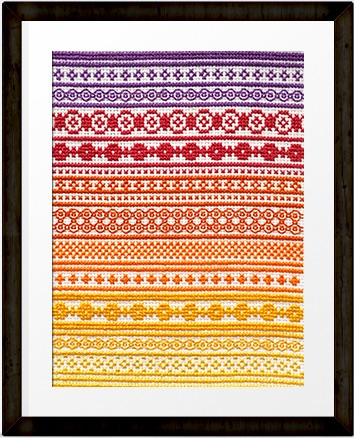 October 'A Year in Stitches' Cross stitch pattern by Mood trackers