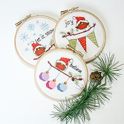 Christmas Robins set 1