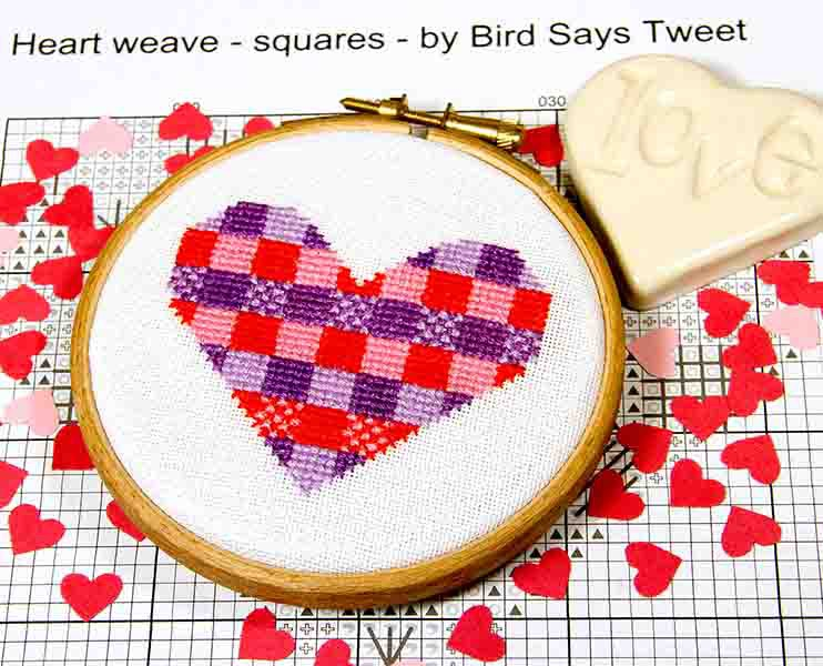 PDF - download - Heart weave - squares - by Bird Says Tweet - Paintbox Coll