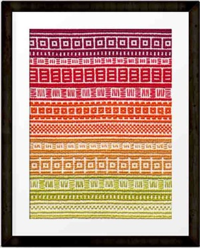 September 'A Year in Stitches' Cross stitch pattern by Mood trackers