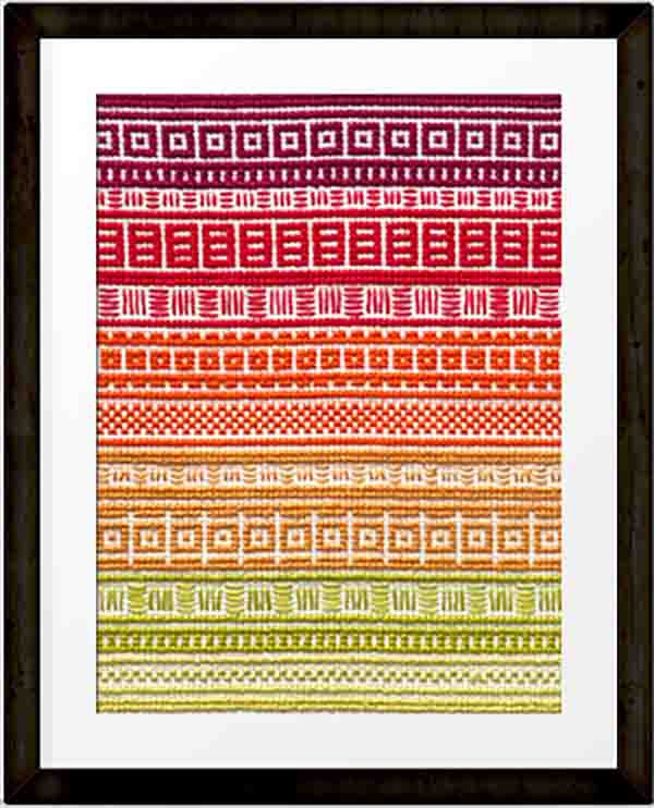 PDF - download - September 'A Year in Stitches' Cross stitch pattern by Moo