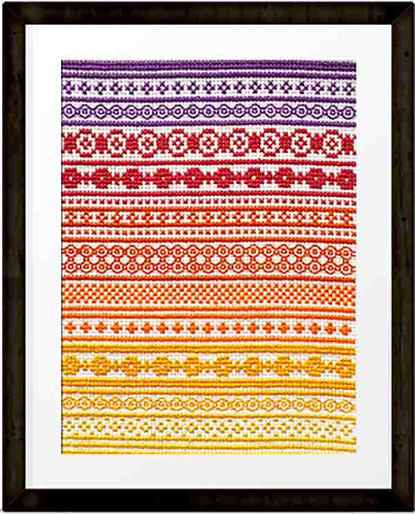 PDF - download - October 'A Year in Stitches' Cross stitch pattern by Mood